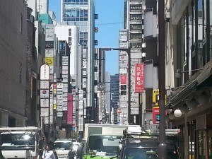 Ginza under the summer sun